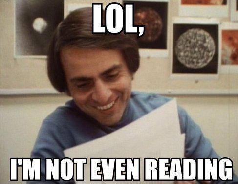Science Bitch! | ¿Qué leía Carl Sagan? + Yapa!